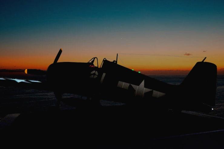 F6F-5N at Night